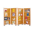 Jonti-Craft� Mobile Library Bookcase - 4 Sections