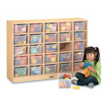 MapleWave� 25 Cubbie-Tray Mobile Storage with Clear Trays