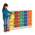 25 Cubbie-Tray Mobile Storage