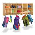 Jonti-Craft� 10 Section Wall Mount Coat Locker