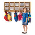 10 Section Wall Mount Coat Locker