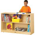 Jonti-Craft� Low Adjustable Mobile Straight-Shelf