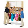 10 Section Wall Mount Coat Locker with Storage