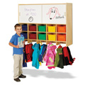 Jonti-Craft� 10 Section Wall Mount Coat Locker with Storage