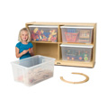 Jonti-Craft� Jumbo Tote Storage � with Clear Jumbo Totes + Lids