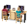 Jonti-Craft� Dual Computer Lab Table