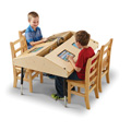 Jonti-Craft� Quad Tablet Table - Stationary