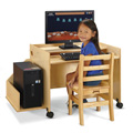 Jonti-Craft� Enterprise Single Computer Desk