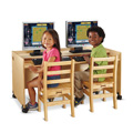 Jonti-Craft� Enterprise Double Computer Desk