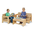 Living Room 4 Piece Set - Wheat