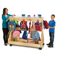 Jonti-Craft� Mobile Backpack Cart � with Clear Cubbie-Trays