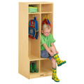 Jonti-Craft� 2 Section Coat Locker with Step