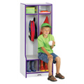 2 Section Coat Locker with Step
