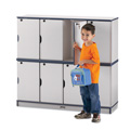 Rainbow Accents� Stacking Lockable Lockers - Double Stack