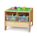 KYDZ Building Table - Preschool Brick Compatible - with Clear Tubs