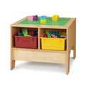 Jonti-Craft� KYDZ Building Table - Preschool Brick Compatible - with Colored Tubs