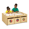 ACTIVITY TABLE w/6 BINS