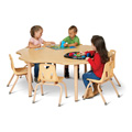 Jonti-Craft� Purpose+ 6 leaf Table