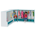 TODDLER CORNER COAT LOCKER w/STEP