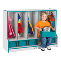 Toddler 5 Section Coat Locker with Step