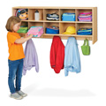 Young Time� 10 Section Wall Mount Coat Locker