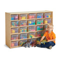 Young Time® 25 Cubbie-Tray Storage - with Clear Bins