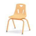 Stacking Chairs with Powder-Coated Legs - Camel