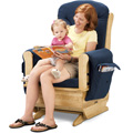 JONTI-CRAFT� GLIDER ROCKER W/BLUE CUSHIONS