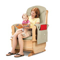 JONTI-CRAFT� GLIDER ROCKER W/OLIVE CUSHIONS