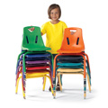 Berries® Stacking Chairs with Powder-Coated Legs
