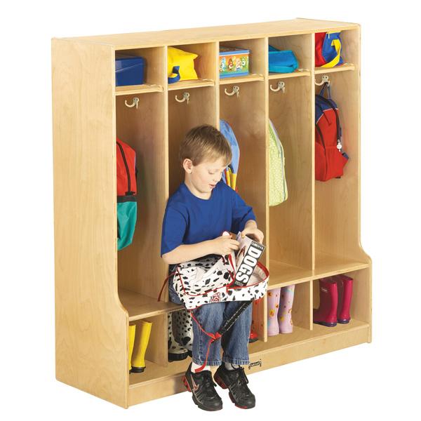 Jonti Craft 5 Section Coat Locker With Step